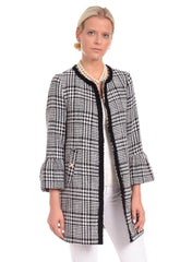 Patty Kim Kelly Jacket - Black/Cream Houndstooth