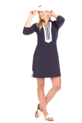 Duffield Lane Spring Lake Dress - Navy/White