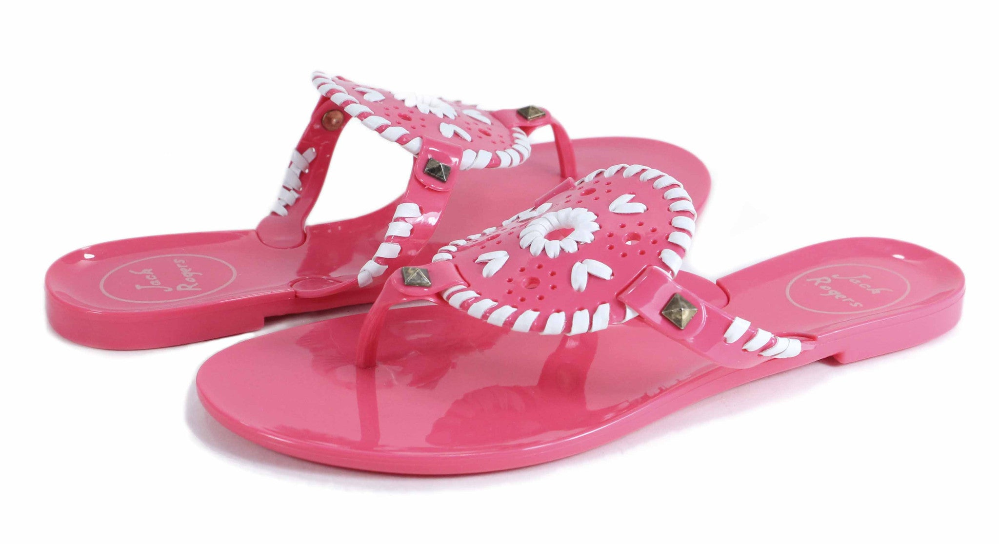 Jack Rogers Georgica Jelly Pink/White by Jack Rogers from THE LUCKY KNOT - 3