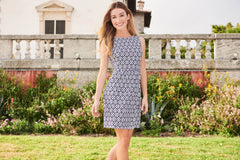 Jude Connally Mary Pat Dress - Bamboo Dot White/Navy