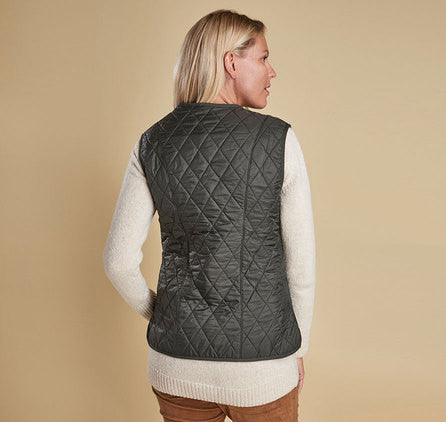 Barbour Fleece Betty Liner Vest - Olive by Barbour from THE LUCKY KNOT - 4
