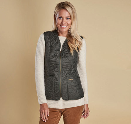 Barbour Fleece Betty Liner Vest - Olive by Barbour from THE LUCKY KNOT - 5