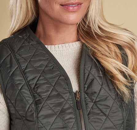 Barbour Fleece Betty Liner Vest - Olive by Barbour from THE LUCKY KNOT - 6
