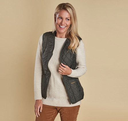Barbour Fleece Betty Liner Vest - Olive by Barbour from THE LUCKY KNOT - 2