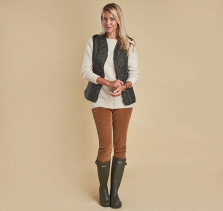 Barbour Fleece Betty Liner Vest - Olive by Barbour from THE LUCKY KNOT - 3