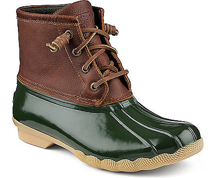 Sperry Women's Saltwater Boot Tan/Green by Sperry Top-Sider from THE LUCKY KNOT
