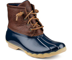 Sperry Women's Saltwater Boot Tan/Navy by Sperry Top-Sider from THE LUCKY KNOT