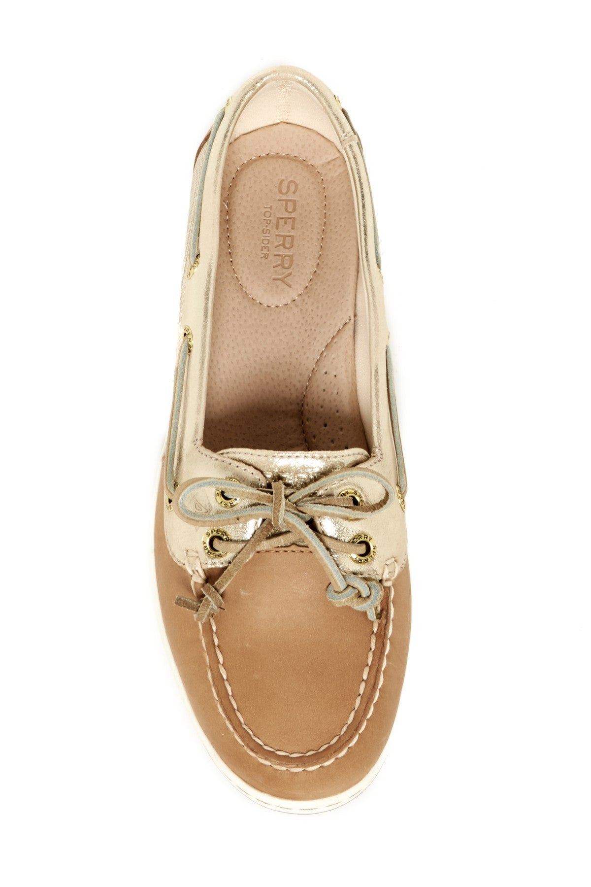 Sperry Women's Firefish Metallic Linen Gold Boat Shoes by Sperry Top-Sider from THE LUCKY KNOT - 2