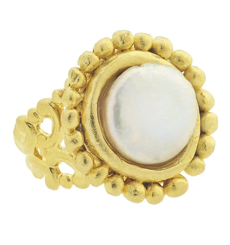 Susan Shaw Dotted Coin Pearl Ring