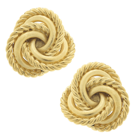 Susan Shaw Knot Clip On Earrings