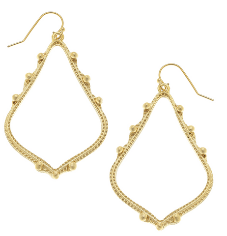 Susan Shaw Dotted Teardrop Earrings