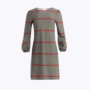 Jude Connally Chloe Dress - JC Belt Red