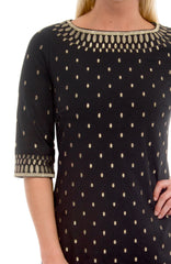 Gretchen Scott Rocket Girl Dress - Black/Gold