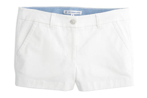 "Southern Tide 3"" Leah Short - Classic White"
