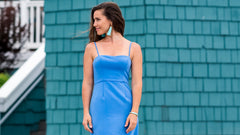 French Connection Brooklyn Dress - Chalk Blue