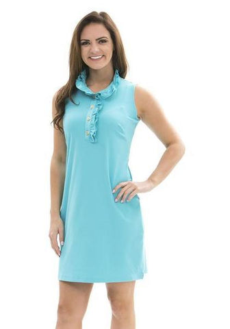 Katherine Way Campeche Dress - Blue Curacao