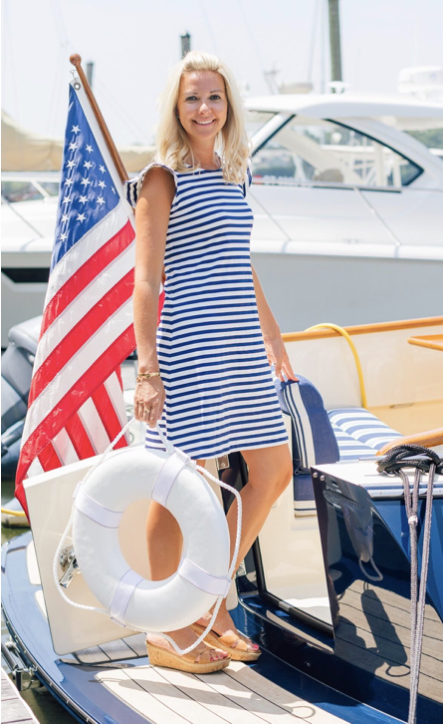 Sailor Sailor Jojo Dress - Wide White/Navy Stripe