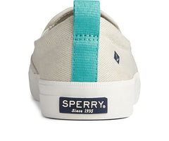Sperry Crest Twin Gore Washed Twill Sneaker - White