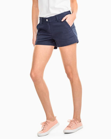 "Southern Tide 3"" Leah Short - Nautical Navy"