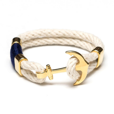 AC Waverly Bracelet - Ivory/Navy/Gold