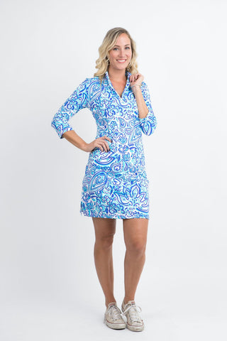 Katherine Way Doral Dress - Floral Fun Royal
