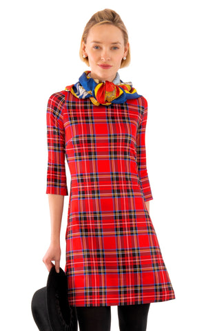 Gretchen Scott Button Up Buttercup Dress - Duke Of York - Red/Multi