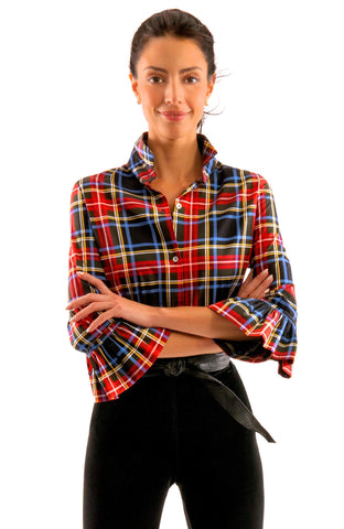 Gretchen Scott Priss Blouse - Duke Of York - Black/Multi