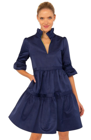Gretchen Scott Teardrop Dress - Faille - Navy
