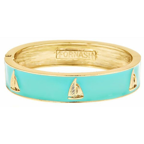 SAILBOAT BANGLE BRACELET - Aqua by Fornash from THE LUCKY KNOT