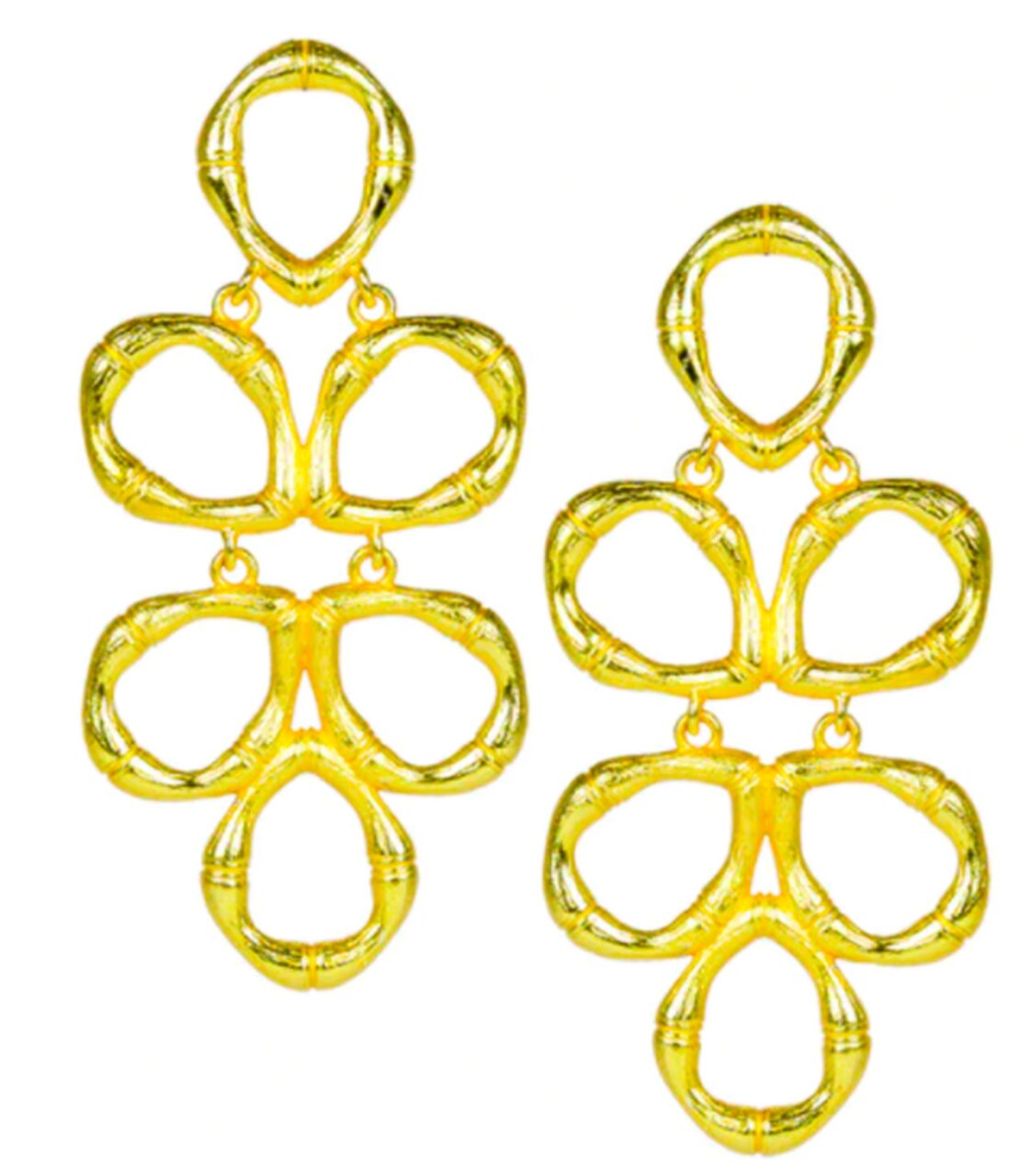 Lisi Lerch Bamboo Ginger Earrings - Gold