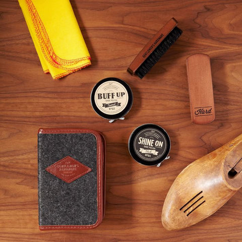 Gentlemen's Hardware, Shoe Shine Kit by Wild and Wolf from THE LUCKY KNOT - 1