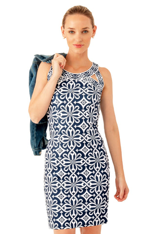 Gretchen Scott Isosceles Jersey Dress - Piazza - Navy