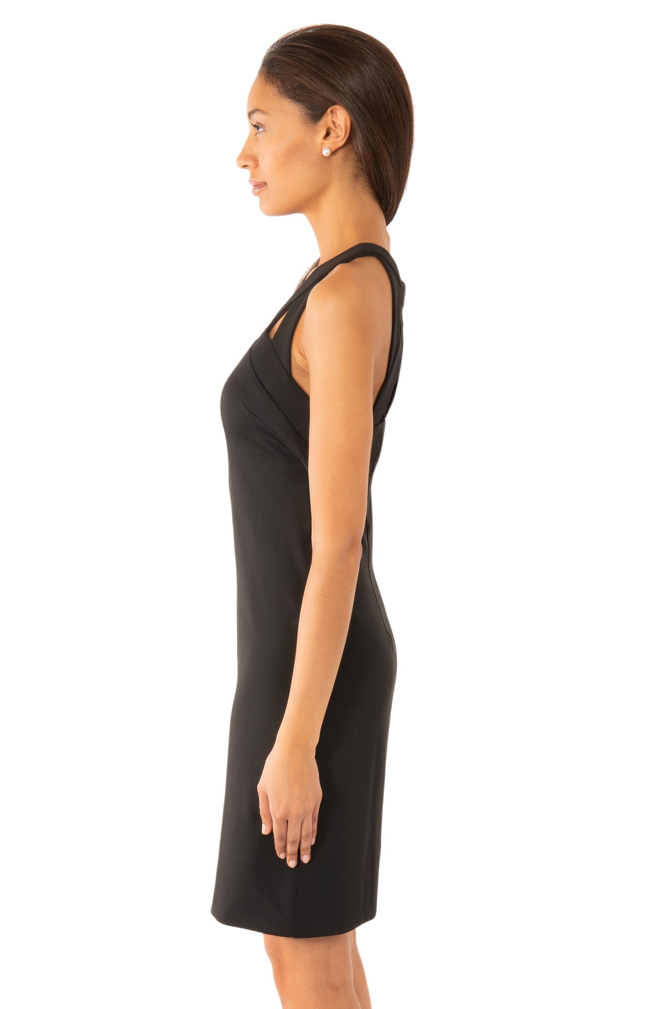 Gretchen Scott Isosceles Jersey Dress - Solid Black