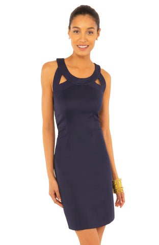 Gretchen Scott Isosceles Jersey Dress - Solid Navy