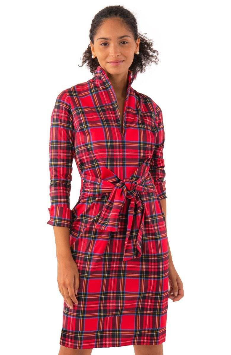 Gretchen Scott Dapper Dress - Duke Of York - Red/Multi