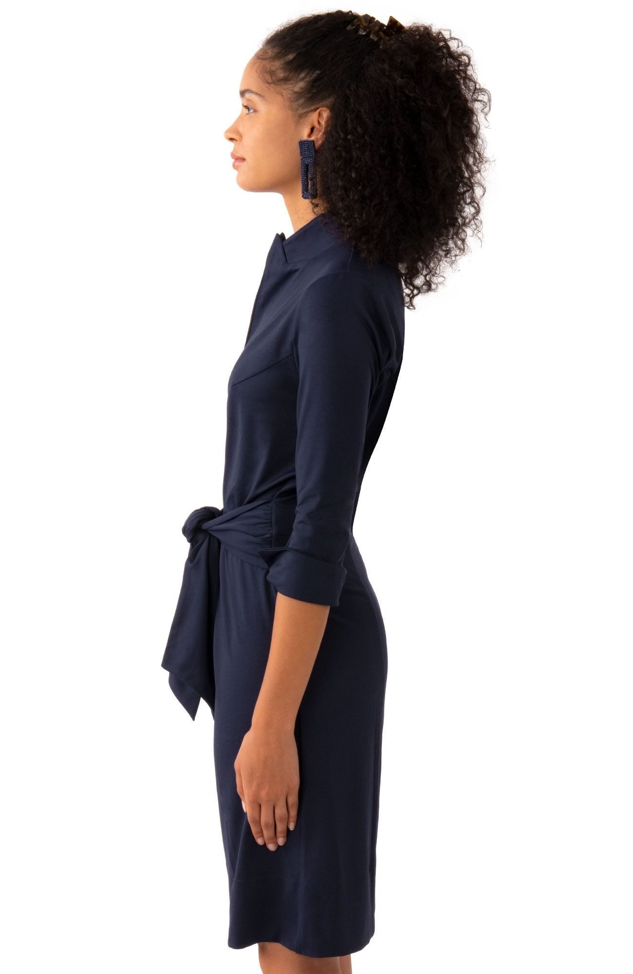 Gretchen Scott Dapper Dress - Solid - Navy
