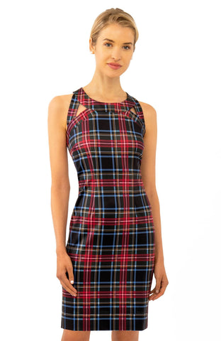 Gretchen Scott Isosceles Jersey Dress - Duke Of York - Black/Multi
