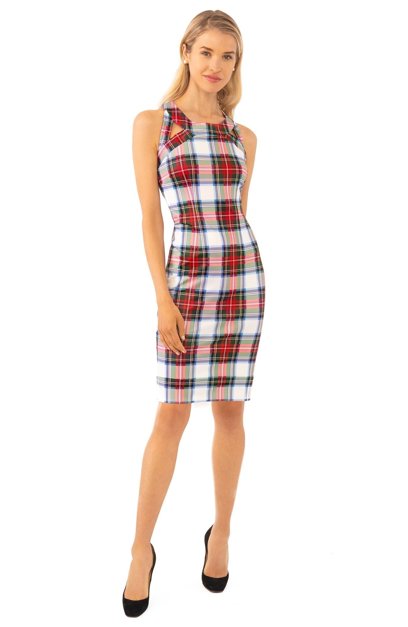 Gretchen Scott Isosceles Jersey Dress - Duke Of York - White/Multi