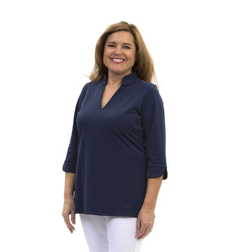 Katherine Way Largo Tunic - Navy