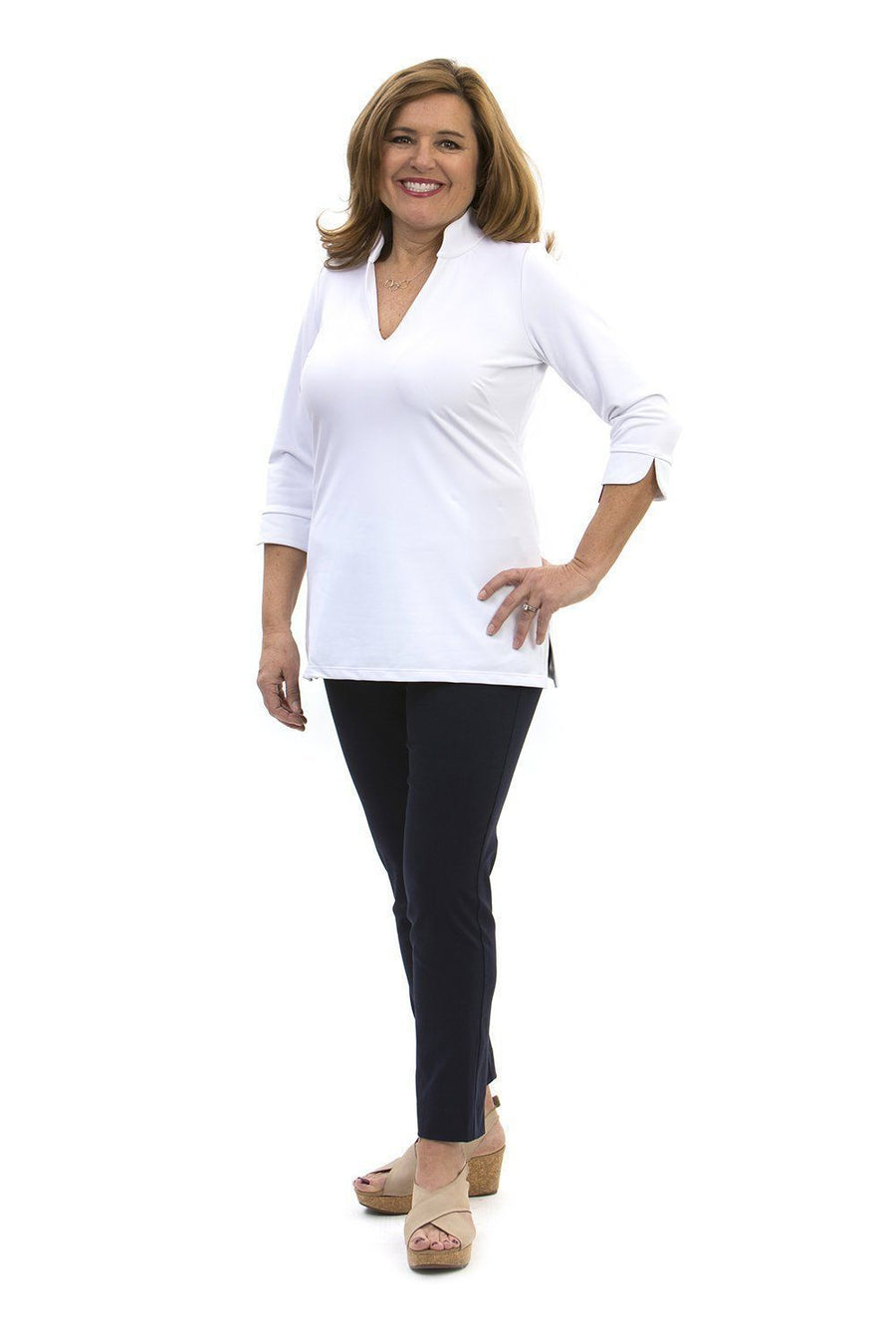 Katherine Way Largo Tunic - White