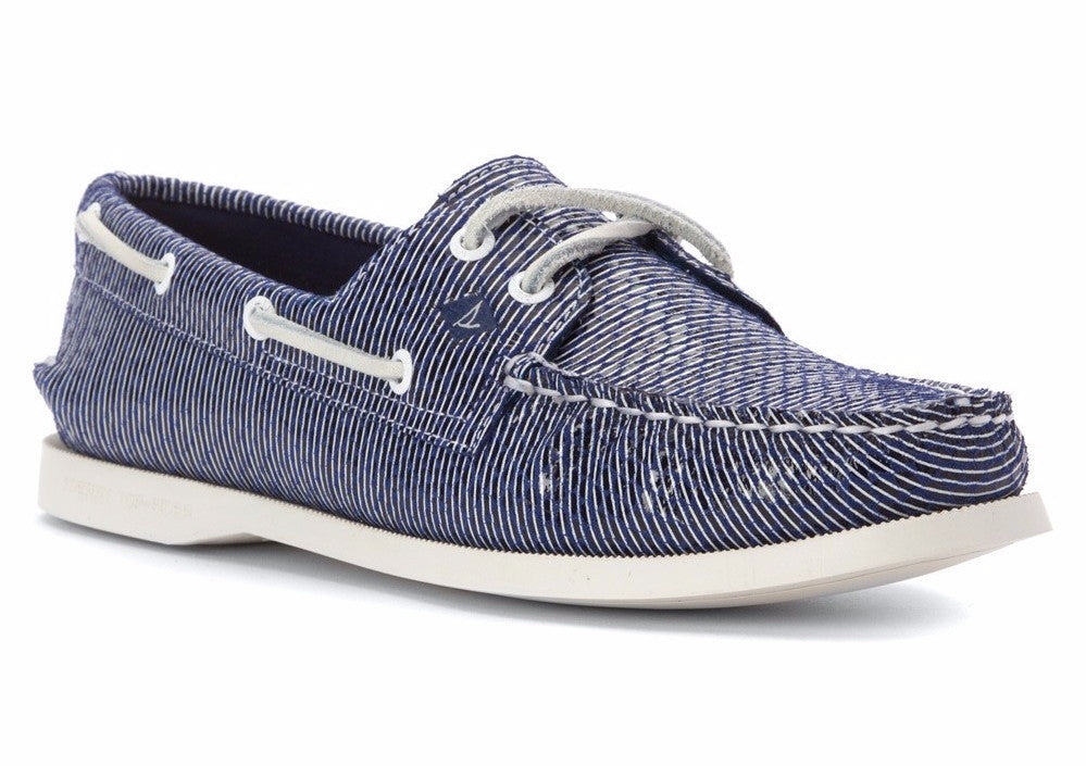 Sperry Women's A/O 2 Eye Snake Navy by Sperry Top-Sider from THE LUCKY KNOT - 1