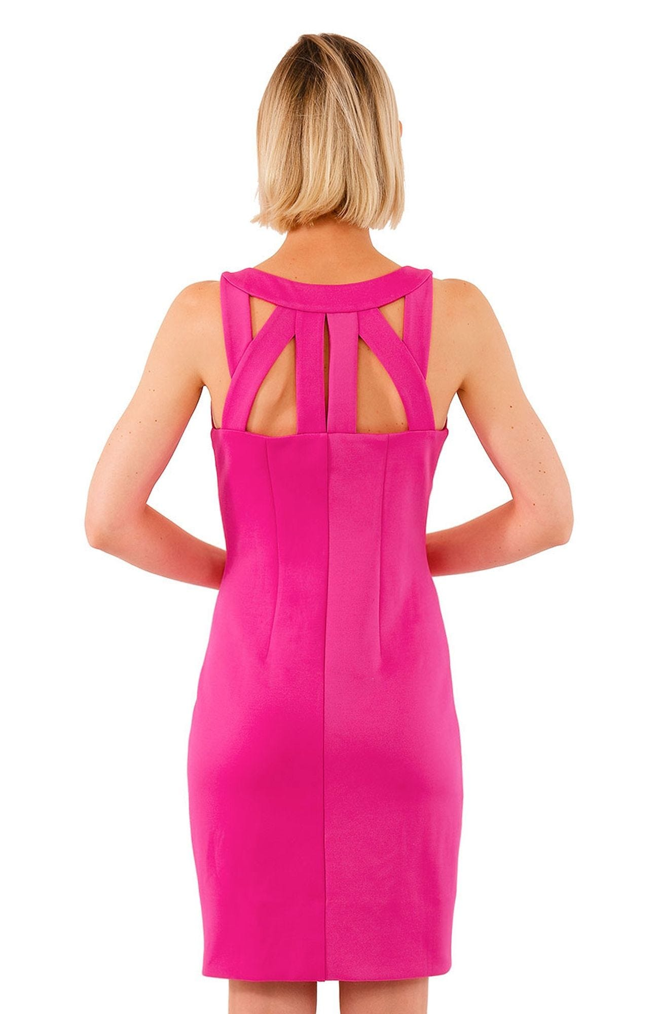 Gretchen Scott Isosceles Jersey Dress - Solid Pink