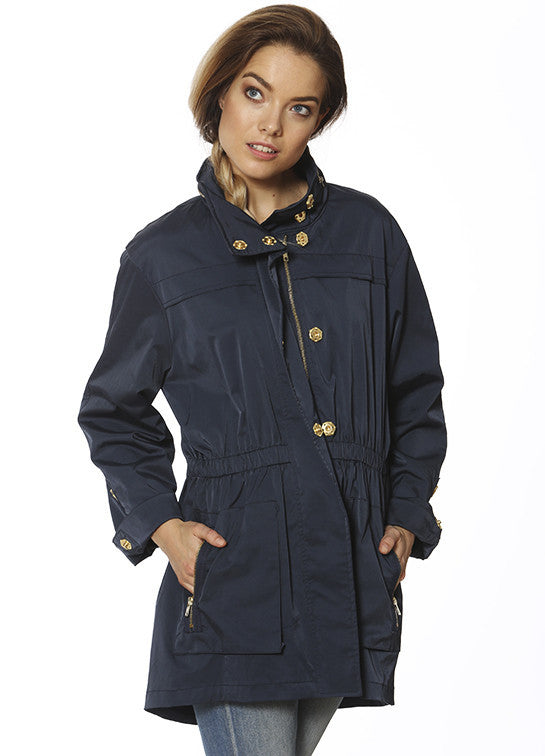 Ciao Milano Tess Anorak Jacket in Navy by Ciao Milano from THE LUCKY KNOT - 1