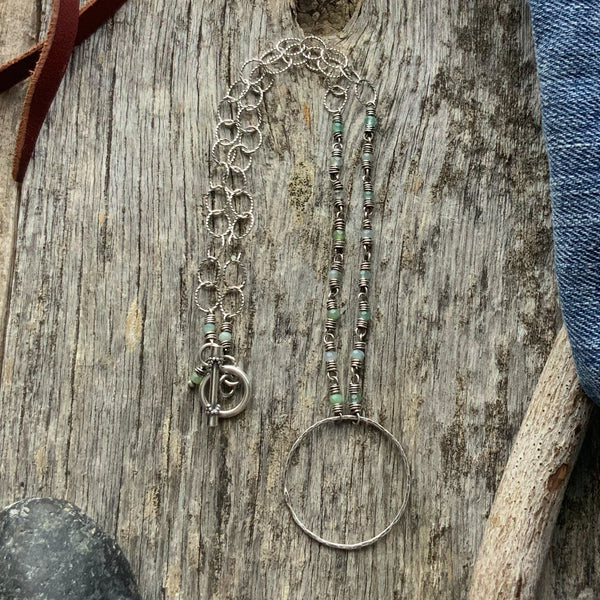 Hazel's Link and Chain Circle Necklace