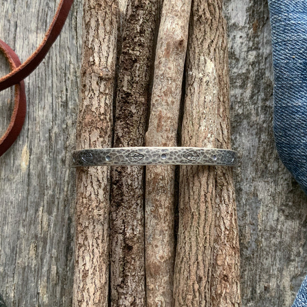 Hazel's Signature Sterling Icon Cuff