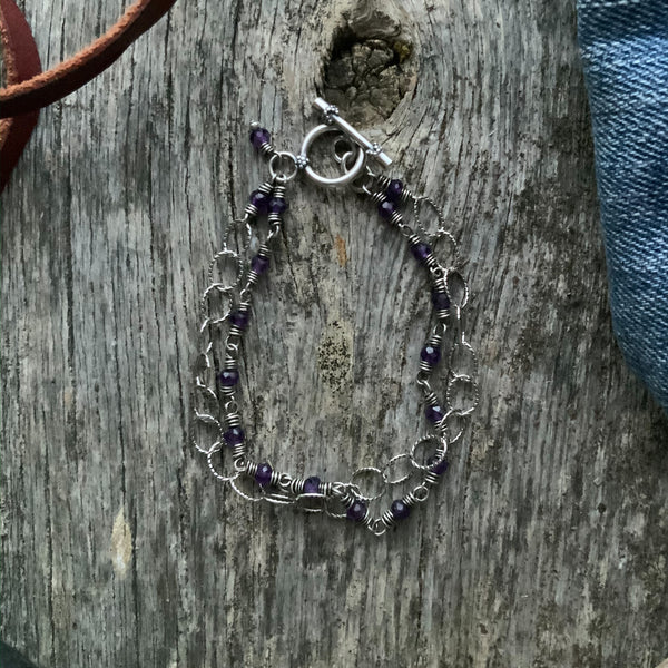 Jane's Link and Chain Double Strand Bracelet