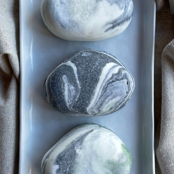 Limited Edition Sweet Citrus Mint River Stone Salt Soap