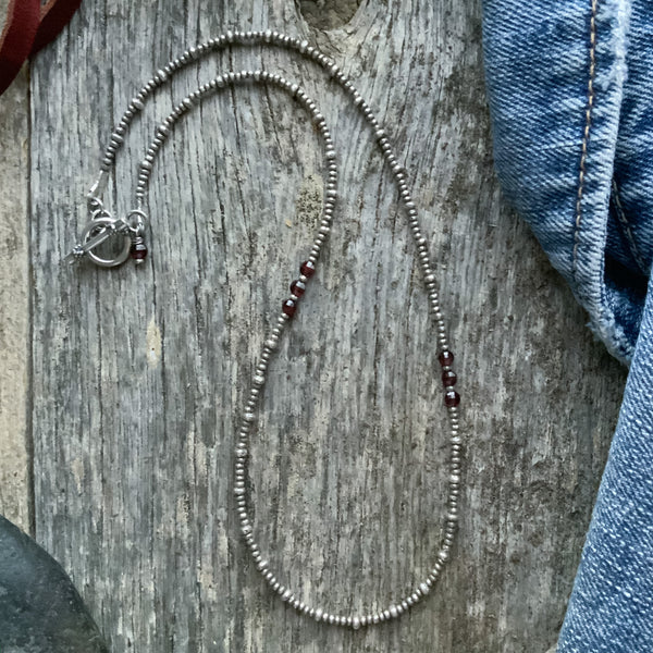 Margo's Silver and Stone Necklace
