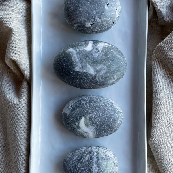 Limited Edition Sweet Citrus Mint River Stone Salt Soap Trio