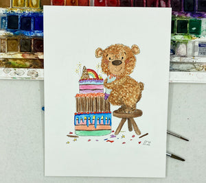 Bear making Cake
